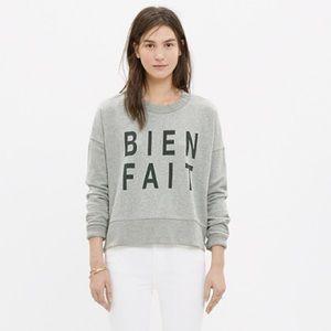 Madewell Bien Fait Gray Long Sleeve Sweatshirt XL